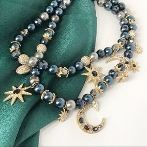 Moon and Stars pearl necklace